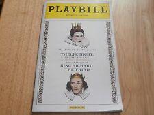 Playbill Program Shakespeares King Richard Twelfe Night 2013 Belasco Theatre