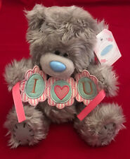 "ME TO YOU BEAR TATTY TEDDY 9"" I LOVE YOU HEART BUNTING BANNER GIFT"