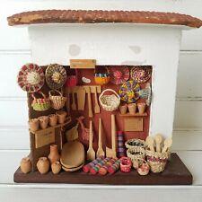 MEXICAN Folk Art Miniature Store Mercado - Baskets Hats Tools Market Stall