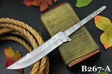 "10.5"" OAL Custom Damascus Steel Blank Blade Hunting Knife Handmade (B267-A)"