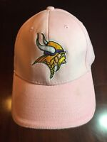 NFL MINNESOTA VIKINGS Pink Adjustable Baseball Hat/Cap. TL7