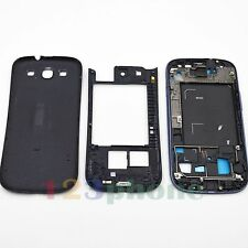 BEZEL FRAME + CHASSIS + BACK COVER FULL HOUSING FOR SAMSUNG GALAXY S3 i9300 BLUE