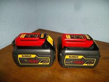 TWO DEWALT DCB606 20/60V MAX FLEXVOLT 6.0 Ah Battery Packs