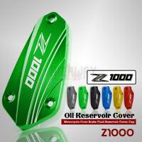 Front Brake Fluid Pump Reservoir Cover Cap For KAWASAKI Z1000 10-18 NINJA 1000