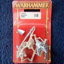 1997 Undead Wight on Skeleton Steed 1.2 WARHAMMER Cavalry Mounted Citadel En parfait état, dans sa boîte GW