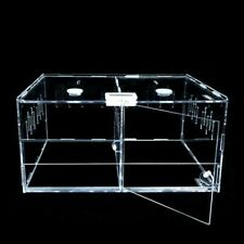 Reptile Clear Acrylic Breeding Box Insect Spiders Lizard Terrarium Pet Cage Tank