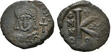 Ancient Byzantine 527-565 Justinian I Theopolis Antiochia Half-Follis