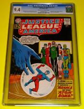 1962 JUSTICE LEAGUE OF AMERICA #14 CGC 9.4 OW-W NM+ Sharp Black cover Atom joins