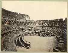 Italia, Roma. Interno del Colosseo Vintage albumen print. Italy.  Tirage alb