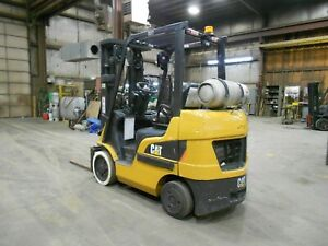 2016 Caterpillar 2C5000, 5,000#, 5000# Cushion Tired Forklift w/3 Stage & SShift