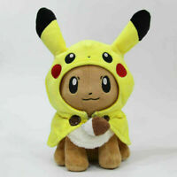 Pokemon Pikachu Poncho Caped  Eevee Plush Doll Soft Stuffed Toy Fans Gift- 7 In