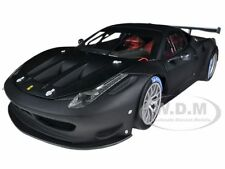 ELITE FERRARI 458 ITALIA GT2 MATT BLACK 1/18 DIECAST MODEL CAR HOTWHEELS BCK09