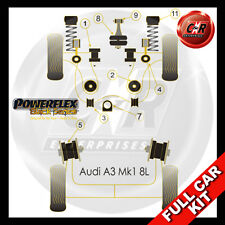 Audi A3 Mk1 8L 2WD 96-03 Powerflex Black Complete Bush Kit Race Wishbone Bushes