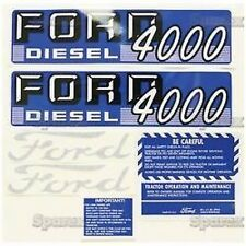 New Ford 4000 Diesel Complete Decal Set