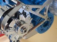 FORD WINDSOR EARLY 289-302 ENGINE ALTERNATOR BRACKET BILLET ALUMINIUM HOT ROD