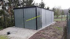 Blechgarage 2,5x6 +Tür Blechhalle Schuppe Lager Fertiggarage 4Kantprofil +Aufbau