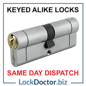 Keyed Alike Euro Cylinders - ALL COMMON SIZES - Same Day Dispatch 48HR FREE POST