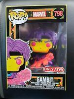 💥 Funko POP Marvel Gambit Black Light Glow #798 Target Exclusive RARE