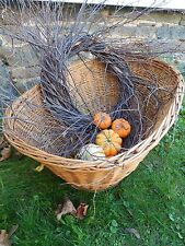 Wild Primitive Country Rustic Birch Twig WREATH door Hand wrapped Farmhouse Chic