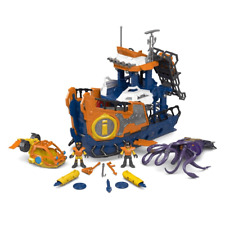 Fisher-Price Imaginext Deep Sea Mission Command Boat DFX93 NEW FREE SHIPPING
