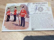 "VINTAGE MILITARY POSTCARD FOR ""THE CHESHIRE REGIMENT"""