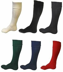 Scottish Wool Blend Men's Kilt Hose Socks Available In 9 Different Colors