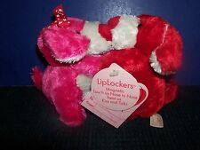 """SET OF 5"""" PLUSH MAGNETIC KISSING DOGS RED AND PINK - DAN DEE"""