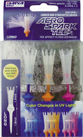 "Aero Spark Golf Tees - 3.3"" Long - UV Change - 3 Pack"
