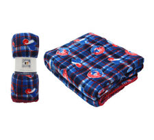 Mlb Travel Fleece Blanket Plaid - Montreal Expose [ Blue / Red ]