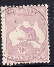 1913 Australia Roo - 9d violet - First wmk SG 10 - Used - Nice Light Cancel