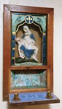 Vintage/ Antique Chalkware JESUS SACRED HEART LAST RITES Box/ Altar For Wall