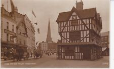 HEREFORD - THE OLD HOUSE WITH HORSE TRRAFFIC B&W POSTCARD