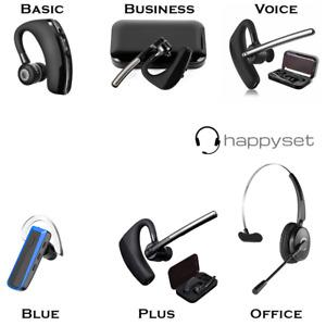 Bluetooth Headset für Samsung S20 S10 S9 Galaxy mit Mikrofon - happyset