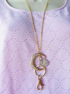 Moon Star Celestial Bling ID Badge Name Tag Key Holder Necklace Lanyard Original