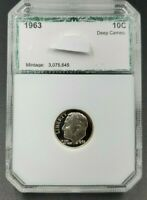 1963 P Roosevelt Silver Proof Dime Coin PCI High Gem Proof Grade