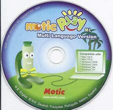 vintage software Cd - Motic Play (English Chinese French Italian Spanish fun)