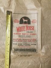 Vintage White Horse Scotch Whiskey Wax Paper Cover Rockefeller Plaza NYC Liquor