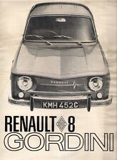 RENAULT 8 GORDINI 1966-67 UK MARKET FOLDOUT SALES BROCHURE