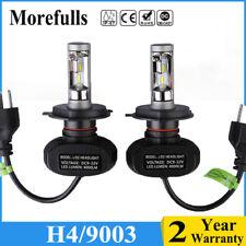 2pcs H4/9003 CSP LED Headlight Bulbs Kit High&Low Beam 8000LM 50W 6500K Fog Lamp