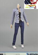 "1/6 Women plaid shirt tank top jeans for phicen Hot Toys kumik 12"" figure ❶USA❶"