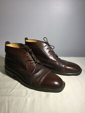 MEN'S STANLEY BLACKER COUTURE BROWN  LEATHER SHOES SZ 9 1/2 ITALY