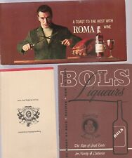 3 Vintage Bar Guides-Bols Liqueurs,Seagram Suggests, And Roma Wine