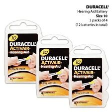 Duracell Size 10 Activair Hearing Aid Batteries (3 packs of 4 cells)