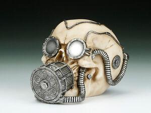 Skull with Gas Mask Figurine Statue Skeleton Halloween