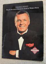 Frank Sinatra souvenir program 1990 Diamond Jubilee World Tour