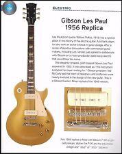 1956 Gibson Les Paul Gold Top Replica + 1991 ES-135 guitars 6 x 8 article