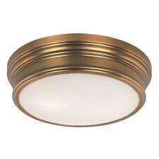 Maxim Lighting Fairmont 2-Light Flush Mount in Natural Aged Brass - 22370SWNAB