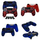 2 X Ps4 Playsation 4 Anti Slip Silicone Cover Skin For Controller W 8 X Grips