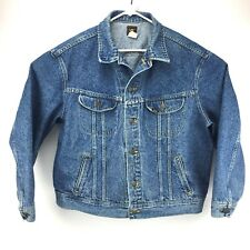 Vintage Lee Denim Truckers Jacket Size XL Made In USA