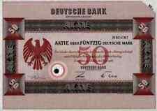 Banco alemán Frankfurt 1966 Elberfeld Viena Praga sofía 50 dm hamburgo munich Top
